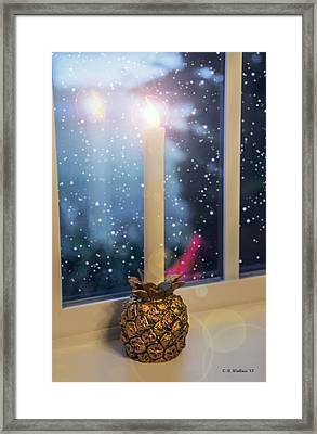 Christmas Candle Framed Print by Brian Wallace
