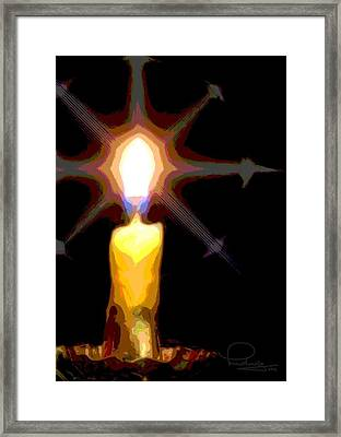 Framed Print featuring the photograph Christmas Candle by Ludwig Keck
