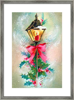 Christmas Candle Framed Print by Munir Alawi
