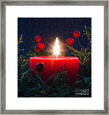 Christmas Candle Framed Print