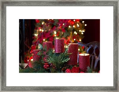 Christmas Candles Framed Print by Patricia Babbitt