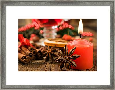 Christmas Candles Framed Print by Doc Braham