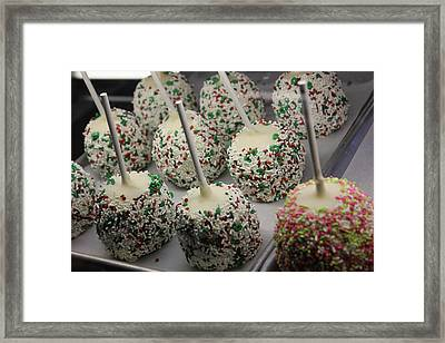 Christmas Candy Apples Framed Print by Bill Owen