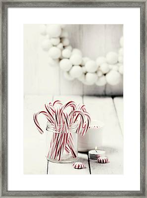 Christmas Candy Framed Print by Claudia Totir