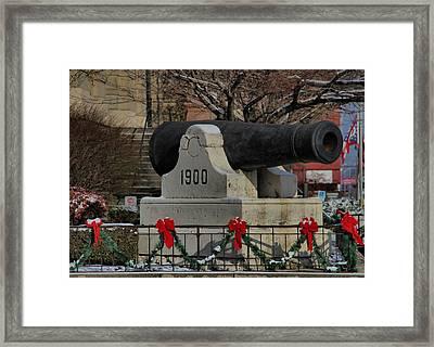 Christmas Cannon Framed Print
