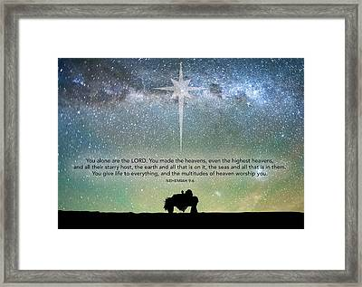 Highest Heavens Framed Print
