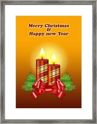 Christmas Card 2 Framed Print by Mark Ashkenazi