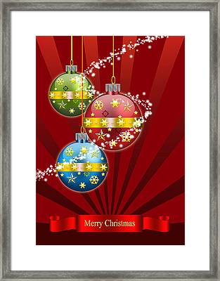Christmas Card 3 Framed Print by Mark Ashkenazi