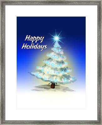 Christmas Card 4 Framed Print by Mark Ashkenazi