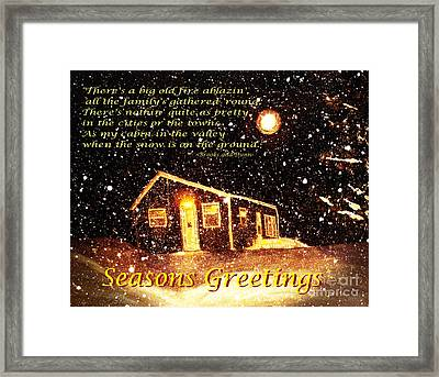 Christmas Card 9 Framed Print by Barbara Griffin
