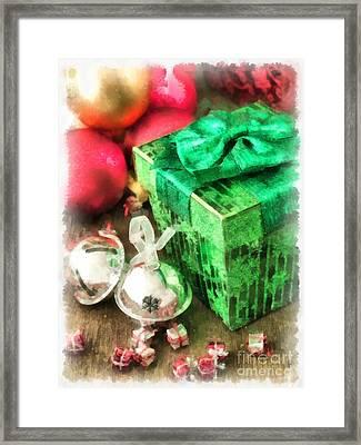 Christmas Card Framed Print by Edward Fielding