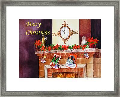 Christmas Card Framed Print by Irina Sztukowski