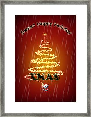 Christmas Card Framed Print by Mark Ashkenazi