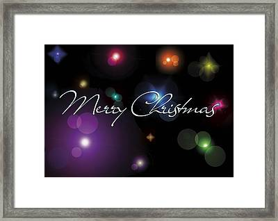 Christmas Card Stars Framed Print by Gina Dsgn