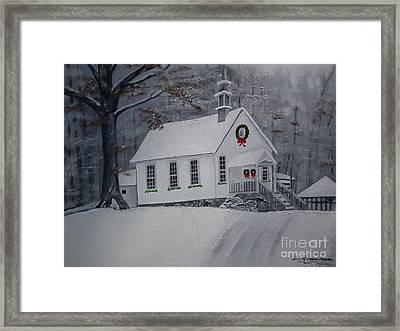 Christmas Card - Snow - Gates Chapel Framed Print