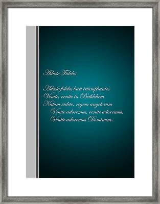 Christmas Carol 2 Framed Print