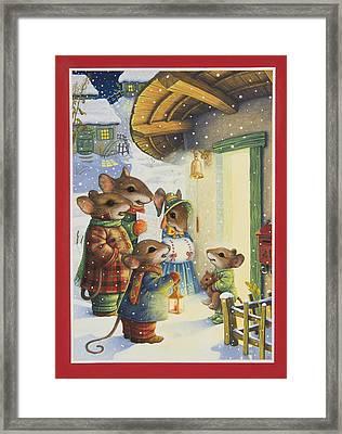 Christmas Carols Framed Print by Lynn Bywaters