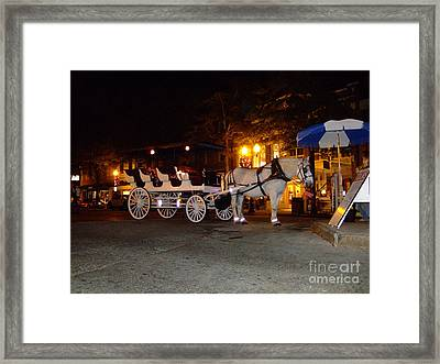Framed Print featuring the photograph Christmas Carriage by Bob Sample