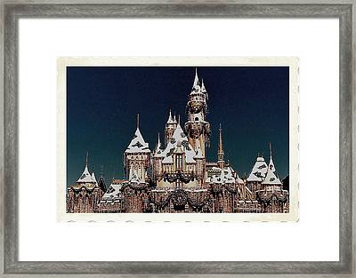 Christmas Castle Framed Print