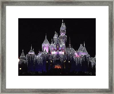 Christmas Castle Night Framed Print