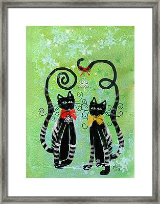 Christmas Cats Framed Print
