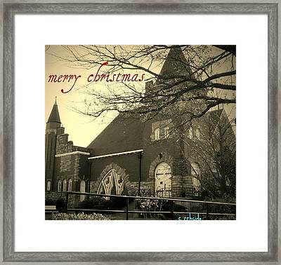 Christmas Chapel Framed Print by Chris Berry