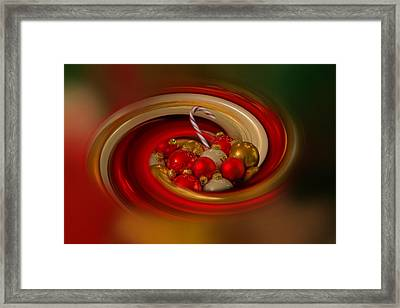Christmas Cheer Framed Print by Angie Vogel