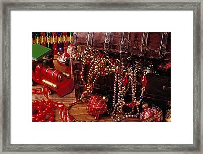 Christmas Chest Full Of Beads Framed Print by Garry Gay