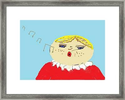 Framed Print featuring the digital art Christmas Choir by Tracey Williams