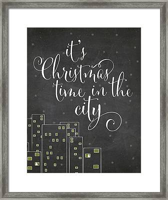 Christmas City Framed Print by Amy Cummings