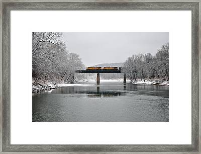 Christmas Coal Framed Print