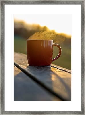 Christmas Coffee Cup  Framed Print