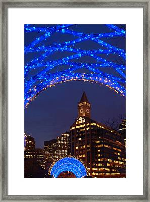Christmas Coluimbus Park Boston Framed Print by James Kirkikis
