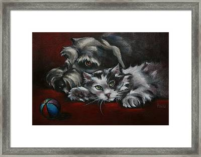 Christmas Companions Framed Print by Cynthia House