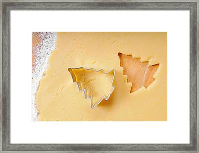 Christmas Cookie Cutter Tree Shape Framed Print by Matthias Hauser