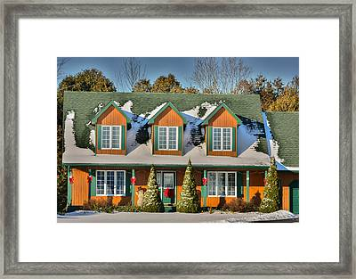 Christmas Cottage Framed Print