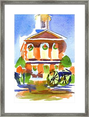 Christmas Courthouse Framed Print by Kip DeVore