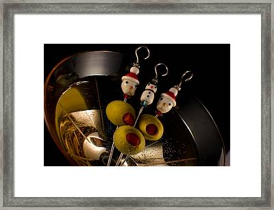 Christmas Crowded Martini Framed Print