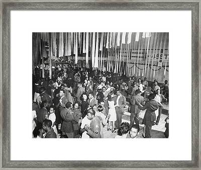 Christmas Dance At The African American Framed Print by Everett