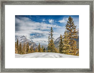 Christmas Day In Banff Framed Print