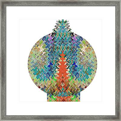 Christmas Decorative Ball Wave Sepctrum Colorful Sparkle Looks Like Xmas Tree Framed Print