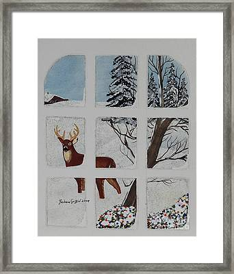 Christmas Deer  Framed Print by Barbara Griffin