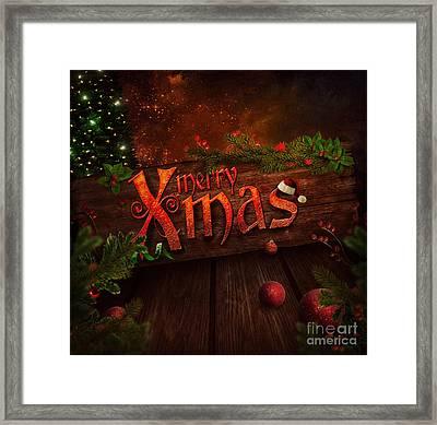 Christmas Design - Xmas Sign Framed Print