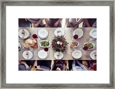 Christmas Dinner Framed Print by Orbon Alija
