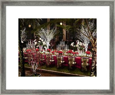 Christmas Dinner Framed Print by Richard Reeve