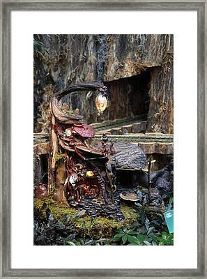 Christmas Display - Us Botanic Garden - 011323 Framed Print by DC Photographer