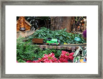 Christmas Display - Us Botanic Garden - 011335 Framed Print by DC Photographer