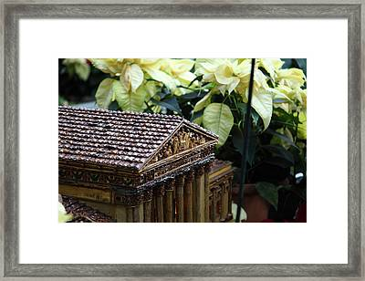 Christmas Display - Us Botanic Garden - 01134 Framed Print by DC Photographer