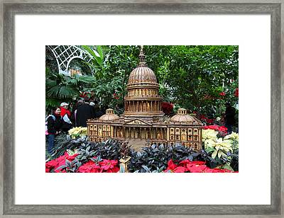 Christmas Display - Us Botanic Garden - 011348 Framed Print by DC Photographer