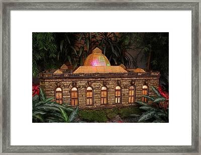 Christmas Display - Us Botanic Garden - 011356 Framed Print by DC Photographer
